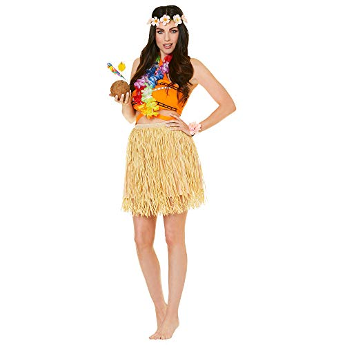 Women's Hawaiian Luau Girl Costume, for Halloween Party Accessory, Extra Large