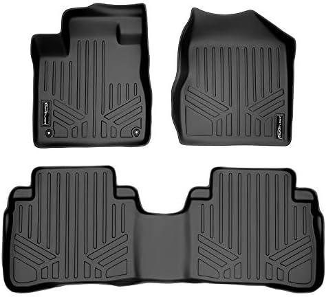 MAXLINER Floor Mats 2 Row Liner Set Black for 2009-2014 Nissan Murano