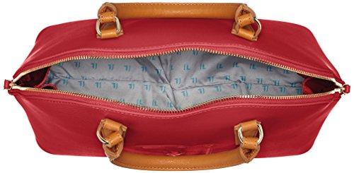 Trussardi 75b555xx53, Borsa a Mano Donna, 37x27x16 cm (W x H x L) Multicolore (Red/Cuoio)