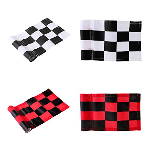 checkered golf putting flags