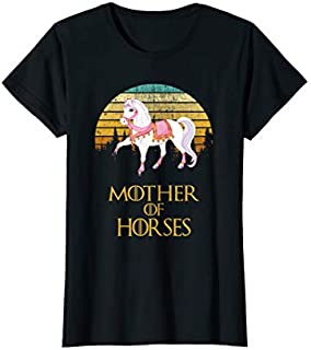 Cool Gift Womens Mother Of Horses Hot 2019  Mother Day Gift Women Long Sleeve Funny Shirt / Navy / S - 5XL