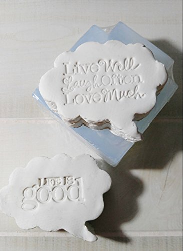 Silicone Mold, Conversation Bubble, Cloud, Message Soap, Candles or Cakes from Laurel Arts