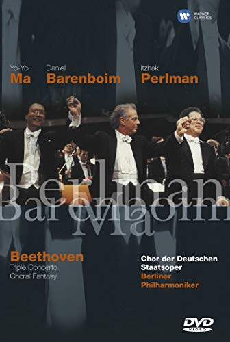 Beethoven - Choral Fantasy and Triple Concerto for Violin, Cello & Piano / Barenboim, Ma, Perlman