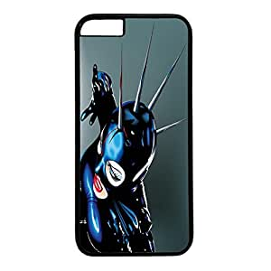 Black PC Case Cover For iPhone 6 Plus Durable Hard Plastic Cellphone Back Shell Skin For iPhone 6 Plus with Bright Poster