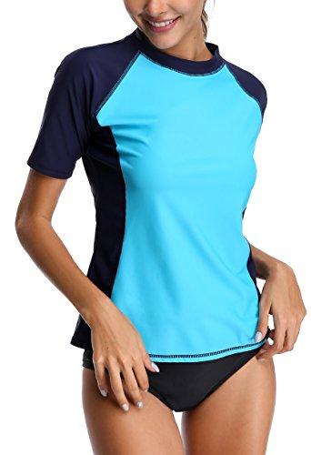 Alove protezione Rashguard Bades turchese UV Blu nbsp; lunghe 50 maglietta a donna con UV maniche da Uq4raU