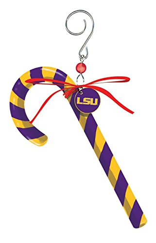 Tigers Candy Cane Ornament - Evergreen 4685188615 LSU Tigers Clay Dough Candy Cane Ornament