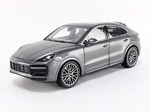 2019 Porsche Cayenne Turbo Coupe Gray Metallic 1/18 Diecast Model Car by Norev 187670