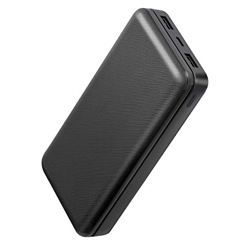 Portable Charger 20000mAh External Battery Pack with Dual USB Ports, Output 5V 2.1A
