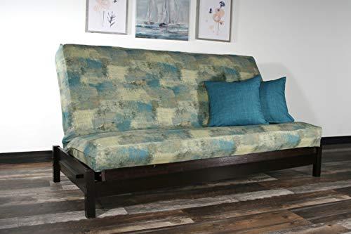 (Strata Furniture Tozi Black Walnut Full Wall Hugger Futon Frame (KD))