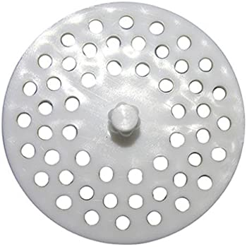 Garbage Disposal And Sink Strainer Guard White Plastic