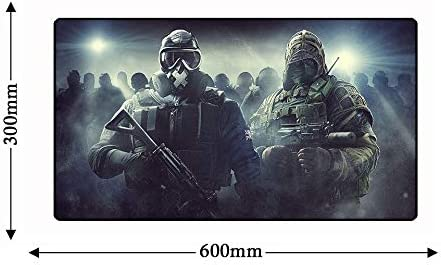 BMWY Mouse Pad Anti-Slip Natural Rubber Rainbow Keyboard Computer Mousepad 600x300mm Gamer Gaming PC Laptop Mouse Pad Desk Mat Color : 7