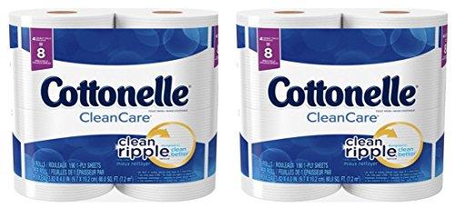 Cottonelle Clean Care Toilet Paper, 190 Sheets Per Roll, 8 Double Rolls (Toilet Paper Double Cottonelle Roll)