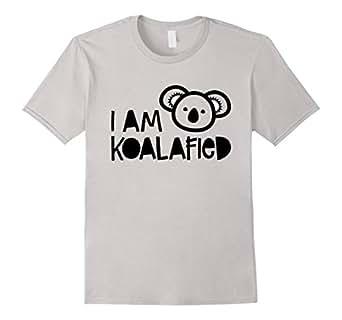 Mens I am koalafied - funny animal pun koala graphic t-shirt 2XL Silver