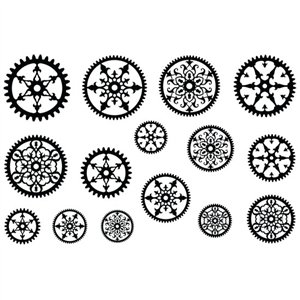 Cool Tools - Jewel Stamps for Soft Clay - Filigree Gears 2 ()