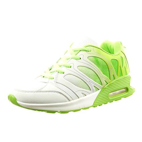 Sopily - Sapatos Da Moda Das Mulheres Da Sapatilha Linhas Verdes