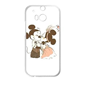HTC One M8 Cell Phone Case White Disney Mickey Mouse Minnie Mouse as a gift E4496440