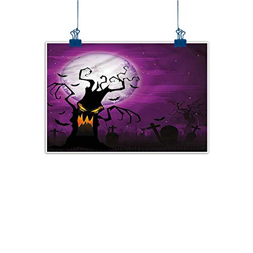 Warm Family Modern Oil Paintings Halloween Human Face and Twiggy Arm Canvas Wall Art 24