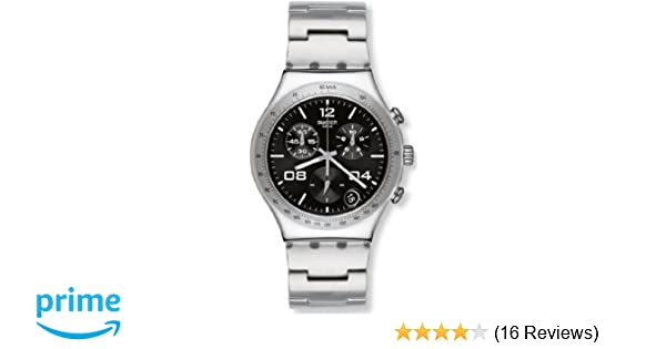 Amazon.com: Swatch Blustery Black Womens Chronograph Watch - YCS564G: Swatch: Watches