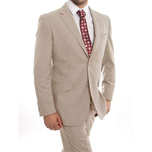 assic Fit Wool Suit New with Notch Lapels(52L/46Waist Regular) ()