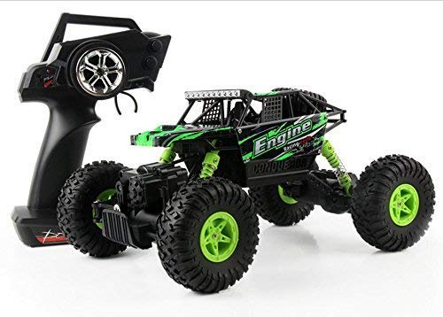 (SZJJX RC Cars Rock Off-Road Vehicle Crawler Truck 2.4Ghz 4WD High Speed 1:18 Radio Remote Control Racing Cars Electric Buggy Hobby Car Gift for Boy Girl-New Green)