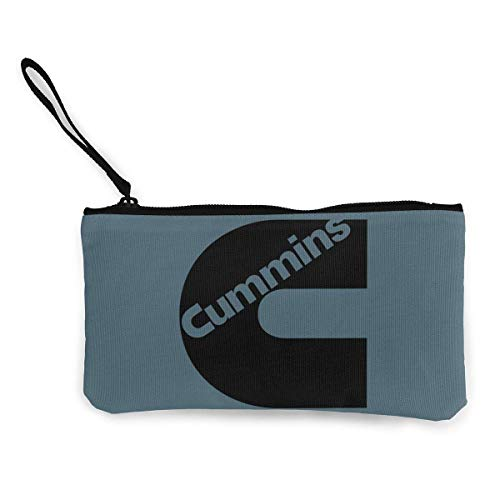 Cummins Canvas Cash Coin Purse Make Up Bag Cellphone Bag With Zipper And - Cummins Coin