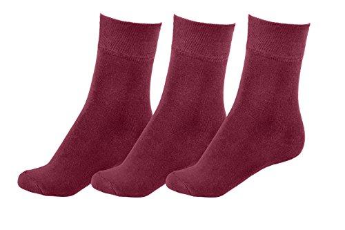 MOTIF SOCKS All Season WOMEN's Socks Bamboo Business Casual Soft Form-Fitting Comfort Shoe Size : 9-12 (Burgundy) by Motif Socks