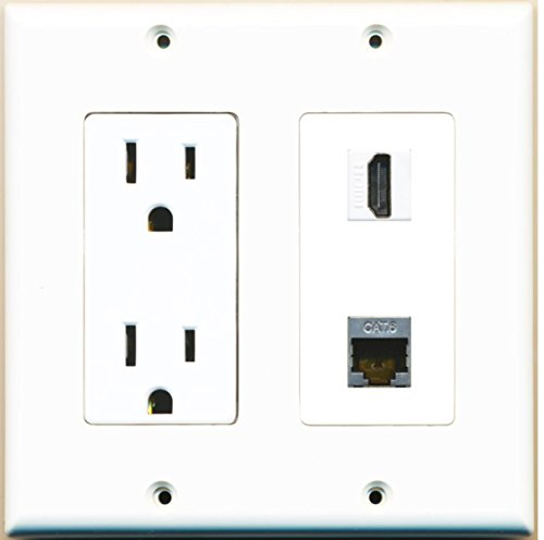 RiteAV - 15 Amp Power Outlet and 1 Port HDMI and 1 Port Shie