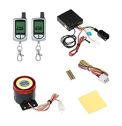 Carrfan Sistema de Alarma de Motocicleta de 2 vías con ...