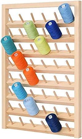 bordado Soporte para hilo de coser de HAITRAL con 32 bobinas soporte de metal para colgar en la pared adecuado para bobinas de hilo grandes soporte de metal para organizador de hilo de coser