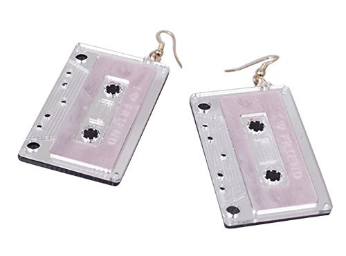 CutieJewelry Cassette Tape Dangle Cute Pretty Earrings (White)]()