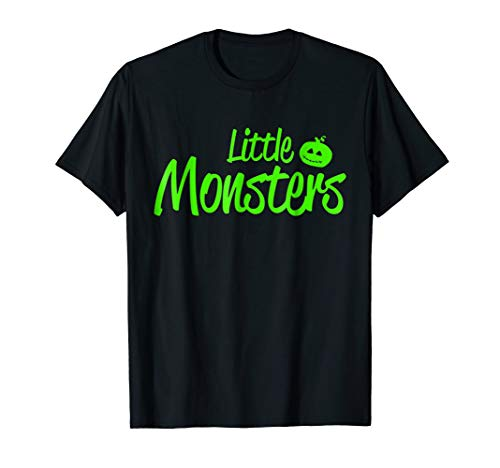 Match little monster funny baby halloween costumes shirts -