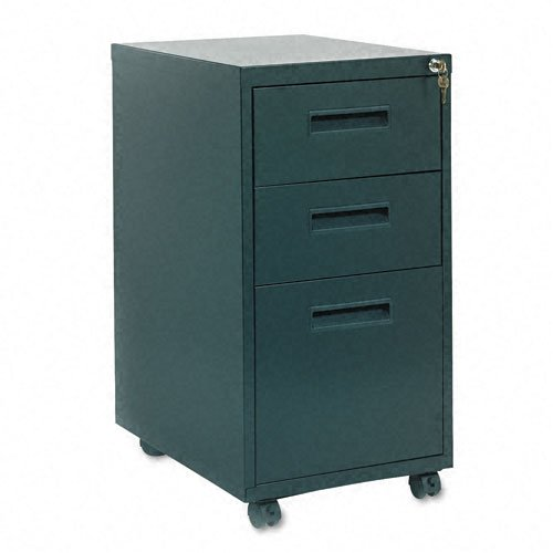 (HON 1623MP 1600 Series 20-Inch Mobile Box File Pedestal File with M Pull Drawers, Black)