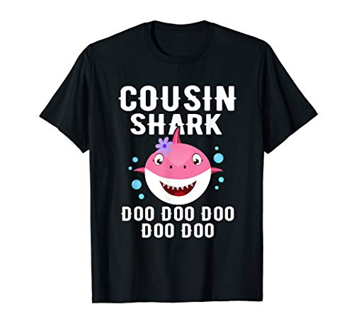 COUSIN Shark Doo Doo T-shirt Funny Gifts for men women (Big Cousin And Little Cousin T Shirts)