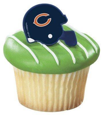 24 ~ NFL Chicago Bears Helmet Rings ~ Designer Cake/Cupcake Topper ~ New!!!!! by Quantumchaos