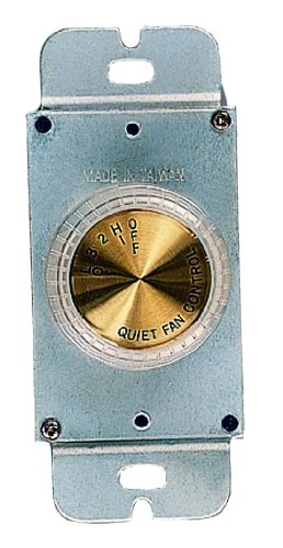 Pewter Dimmer (Royal Pacific WC-3 Ceiling Fan Wall Control, Rotary, Four Fan Speed Controls)