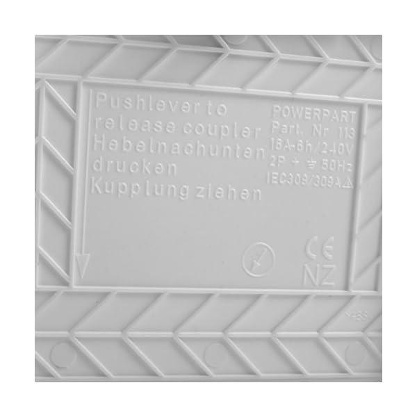 41mp7jzkHlL wamovo CEE Aussensteckdose weiß Spritzwasser geschützt 200-240V, 16A, 3 polig IP44