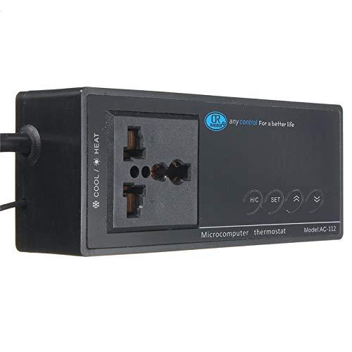 Digital LED Temperature Controller Thermostat for Aquarium Reptile 110/220V