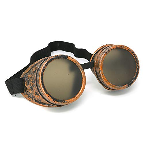 Skeleteen Steampunk Goggles Costume Accessories - Cyber Victorian Welding Glasses - 1 -