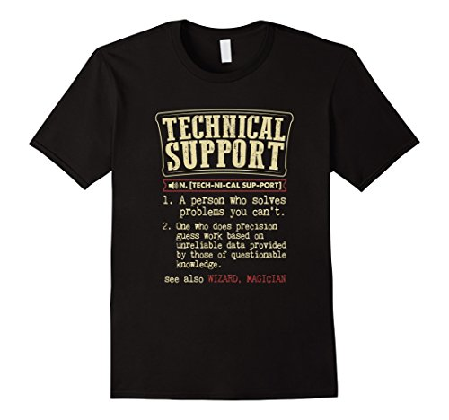 Mens Technical Support Funny Dictionary Definition T-Shirt 2XL Black