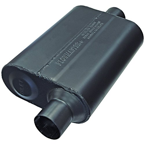 Flowmaster Super 44 Delta Flow Muffler (Flowmaster 942446 Super 44 Muffler - 2.25 Offset IN / 2.25 Center OUT - Aggressive Sound)