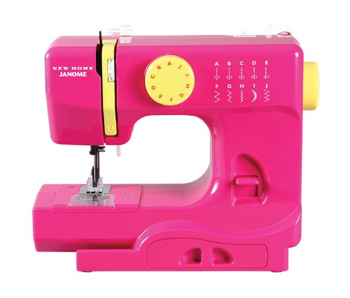Janome Fastlane Fuschia Basic, Easy-to-Use, 10-Stitch Portable, Compact Sewing Machine with Free Arm only 5 pounds -