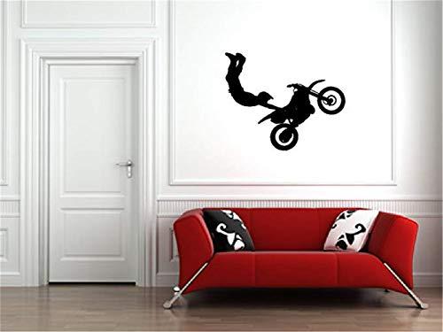 Tisloa Decal Art Saying Lettering Sticker Wall Decoration Art Motocross Dirt Bike Sticker for Kids Boys Girls Room and Bedroom for Home Decor (Calendar Motocross Girls)