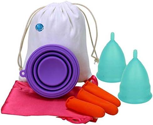 Paquete de copa menstrual 2, copa de período más cómoda, la ...