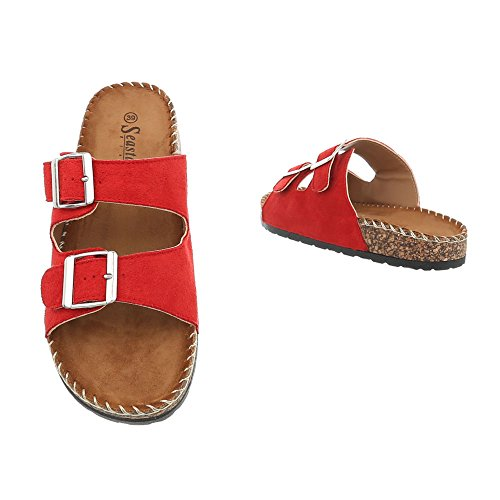 at Red Design Ital Women's CK01P Mules Sandals Flat Yw1xOgxXq