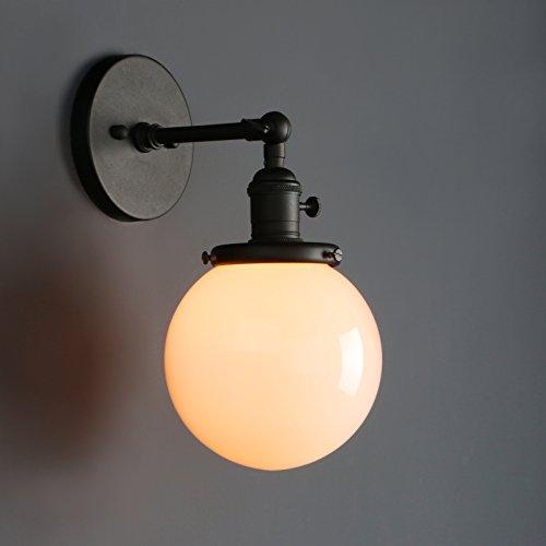 Art Deco Shade - Phansthy Glass Wall Sconce Industrial Wall Light 1-Light 5.9 Inch Globe Lamp Shade