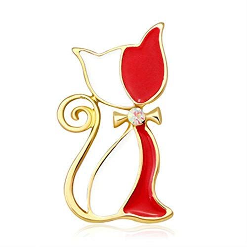 Animal For Women Lapel Pin Metal Brooch Garment Accessories Fashion Jewelry | color - red (Spectacles Edwardian)