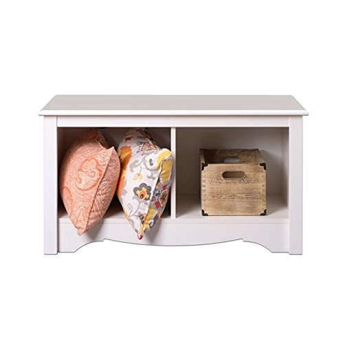 Prepac Monterey White Twin Cubbie Bench (small) - Small Storage Bench