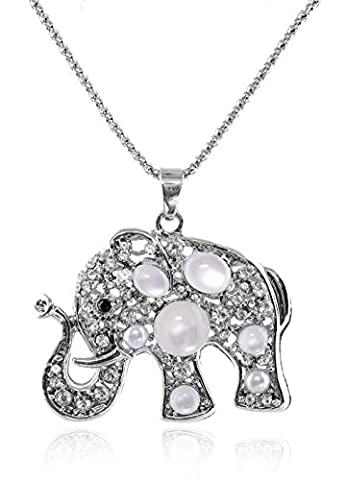Totoroforet Sterling Silver Plated Cute Animal Elephant Pendant Chain Necklace - Sterling Silver Bow Brooch
