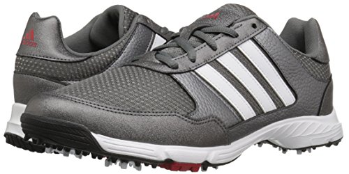adidas Men's Tech Response Golf Shoe, Iron Metallic/White, 8.5 W US by adidas (Image #6)