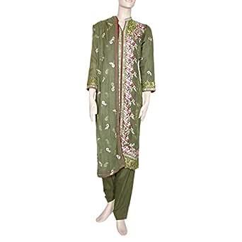 Shabnam Green Casual Kameez & Salwar Set For Women